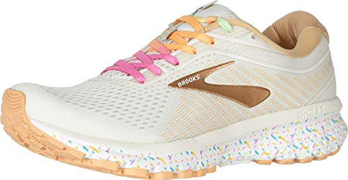 Brooks Women's Ghost 12 Vanilla Sprinkles Running Shoes (11.0, White/Rainbow)