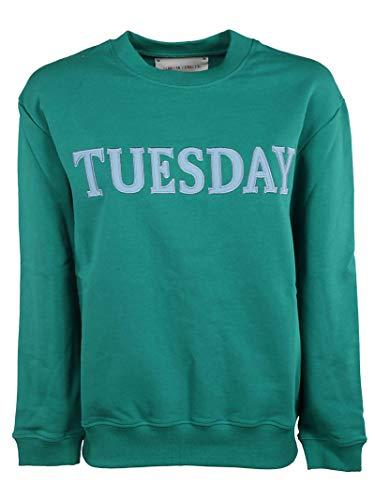 Sweatshirt J170116760370 Coton Alberta Ferretti Femme Vert wzqxxXYg