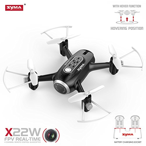 Syma X22W RC Drone FPV Quad Copter with HD Camera Nano WiFi Pocket Drone for Beginners Headless Mode 4 Channel Altitude Hold Real Time Transmission Drone for Outdoor Indoor by SYMA
