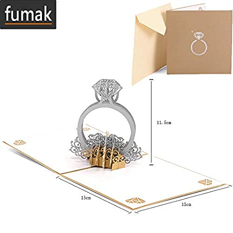Amazon.com: Tarjeta de felicitación de cumpleaños con sobres ...
