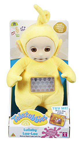Character Options Teletubbies Lullaby Laa Laa Musical Night Light Soft Toy