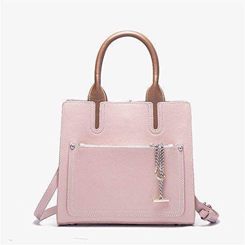 GWQGZ Nueva Moda Bolso De Hombro Único Minimalista Blanco Pink
