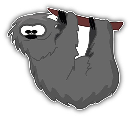 Sloth Cartoon Animal Home Decal Vinyl Sticker 5'' X 4'' -