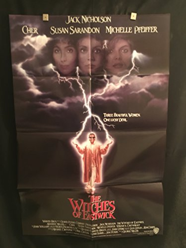 The Witches Of Eastwick 1987 Original Vintage One Sheet Movie Poster, Jack Nicholson, Cher, Michelle Pfeiffer
