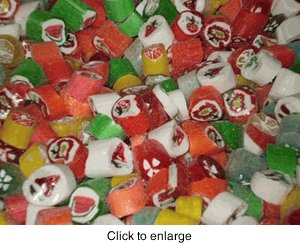 cut rock candies 1 pound - Christmas Hard Candy