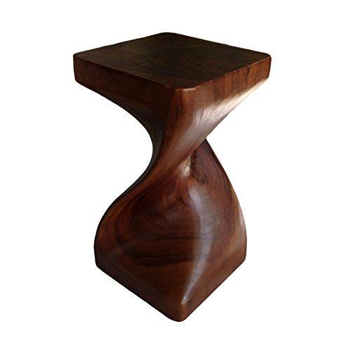 Asia Oriental unico Twist 20inch taburete de madera ~ mesa cuadrada mesa auxiliar ~ final por Collumino