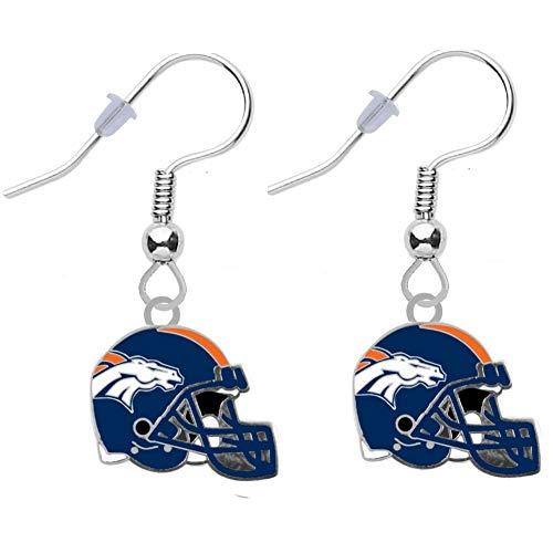 (Final Touch Gifts Denver Broncos Helmet Earrings Pierced )