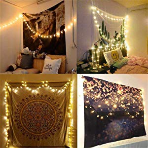 Christmas Light 66Ft 200LEDs Waterproof Copper Wire Starry String Fairy Lights Bendable and Flexible Perfect DIY for Bedroom|Tapestry|Wedding|Party|Christmas|Indoor|Outdoor Wall Decor-Warm White