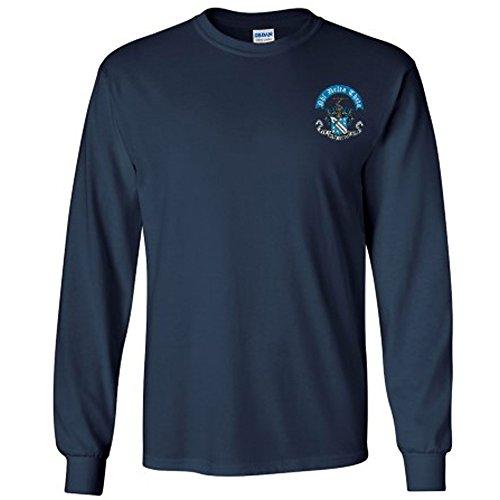 Phi Delta Theta Fraternity Crest Longsleeve Tee Small Navy Blue Phi Delta Theta Fraternity