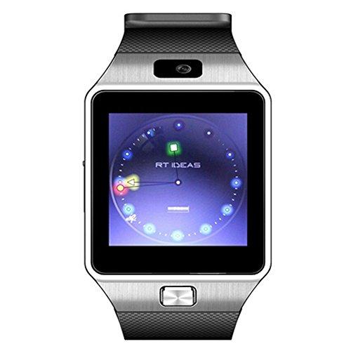 TechCity Gear S Bluetooth Smart Watch WristWatch Sim insert anti-lost Call reminder Phone Mate (Black-BW08)