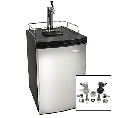 EdgeStar Low Temperature Kegerator with Stainless Steel Door and Home Brew Tap