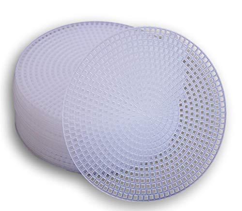 Plastic Canvas Circle – 4.5 Inch Diameter – 30 Pack