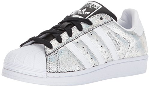 adidas Originals Women's Superstar W Sneaker, Supplier Colour/White/Core Black, 7 M US (Adidas Sneakers Black)