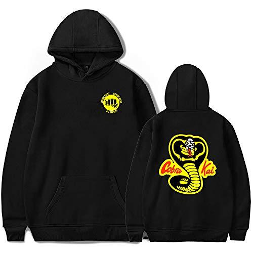 (Unisex Cobra Kai Hoodie Sweatshirt Top Sweater Hoodie Halloween Costume Retro Fleece Hoodie Sweatshirt (Black1,)