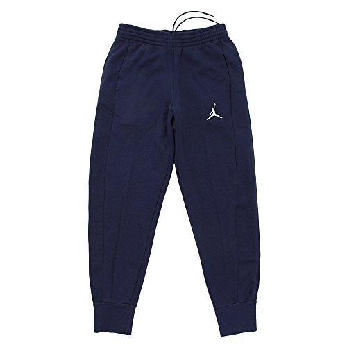 Nike Mens Flight (Nike Mens Jordan Flight Basketball Ribbed Cuff Sweatpants Midnight Navy/White 823071-410 Size 2X-Large)