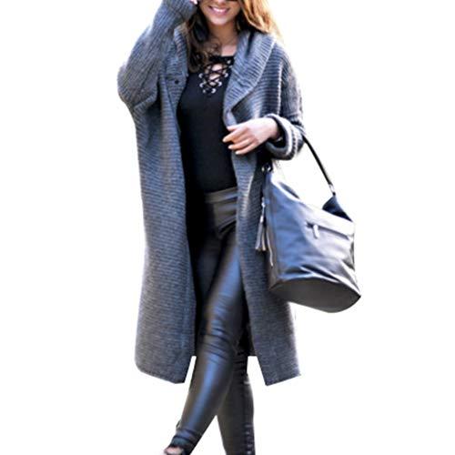Moda Cuatro Larga Grandes Hoodie Tops Gris Outwear Tallas Abrigo 3xl S Botones Sólido Invierno Cardigan Con Color Cálida Mujeres Capucha Manga Colores wXTPqPFz