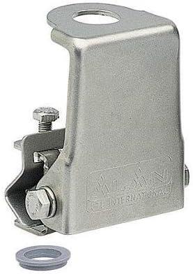 Midland GR-F INOX - Base para Antena de Coche (Acero Inoxidable, Anillo Reductor) Negro