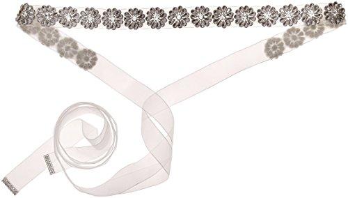 Nina Women's Rayleen Boho Floral Organza Bridal Belt, Ivory, One Size by Nina