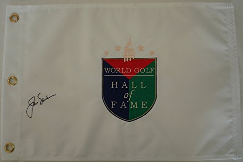 Jack Nicklaus Hand Signed / Autographed Golf Hall of Fame Pin Flag ()