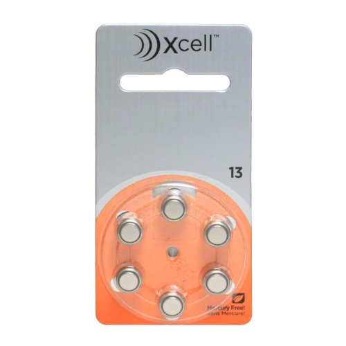Rayovac Mercury Free Xcell Size 13 Hearing Aid Batteries (60 Pcs) + Battery Holder Keychain Kit by Rayovac