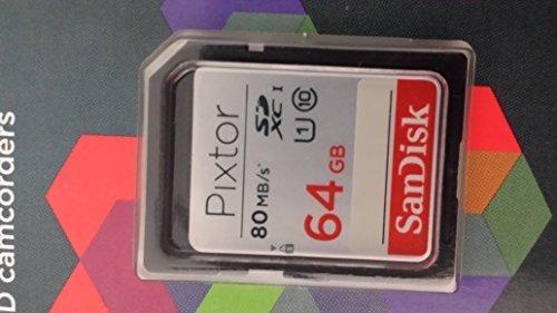 SanDisk Pixtor High Performance SDXC UHS-1 64GB Class 10 Memory Card