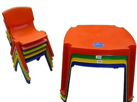 PREMIUM para niños – Set de mesa y Nursery silla plástico grande ...