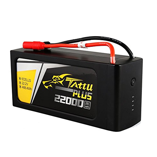 Price comparison product image Tattu Plus LiPo Smart Battery Pack 22000mAh 22.2V 25C 6S with AS150+XT150 plug for UAV Drone Integrated with Smart BMS