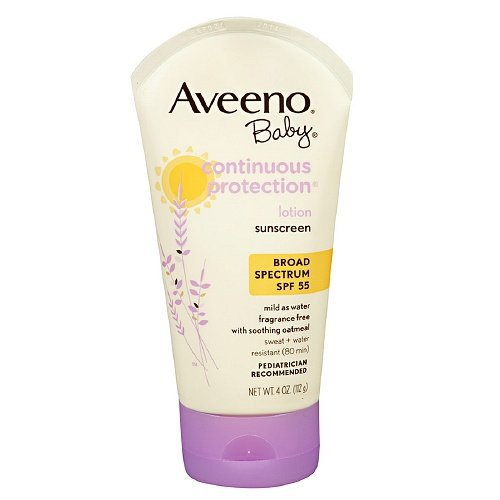 Aveeno Baby Continuous Protection Sunscreen Lotion, SPF 55 4