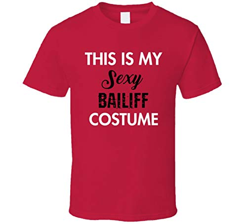 SHAMBLES TEES This is My Sexy Bailiff Costume Tee Funny Halloween Party Occupation T Shirt L Red for $<!--$23.49-->