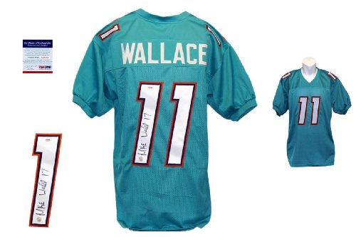 Mike Wallace Signed Custom Jersey - PSA/DNA - Autographed - Teal