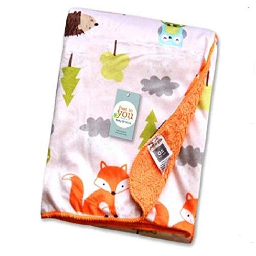 Kleitung baby cosy blanket Fuzzy blanket or fluffy blanket for baby girl or boy, soft warm cozy coral fleece toddler, infant or newborn receiving blanket for crib, stroller, travel, outdoor, decorativ