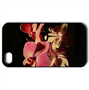 Pink Orchids Watercolor style Cover iPhone 4 and 4S Case (Flowers Watercolor style Cover iPhone 4 and 4S Case)