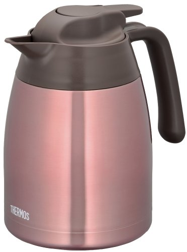 THERMOS stainless steel pot 1.0L clear pink THV-1000 CPK (japan import) by Thermos