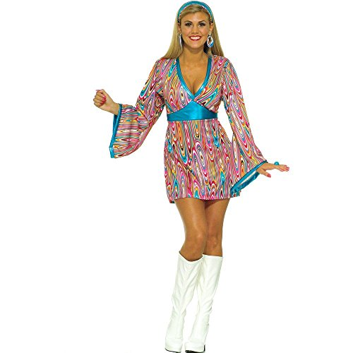 Forum Novelties Wild Swirl Dress Costume, X-Small/Small -