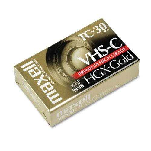 MAXELL CORP OF AMERICA 203010 High Grade VHS-C Videotape Cassette, 30 Minutes by Maxell