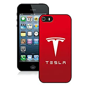 Personalized Tesla Logo 3 iPhone 5 5s 5th Generation Phone Case in Black