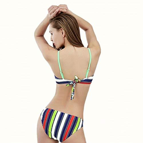 Fendu Deux Xxl Zhrui D'été coloré Taille Floral De Pièces maillot Bain Triangulaire Bikini bikini ZCqw0