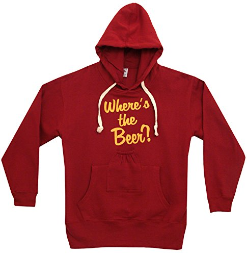 Beer Pouch Where's The Beer Funny Adult Hoodie Hooded Sweatshirt (Beer Pouch Hoodie)