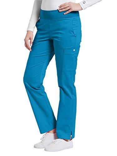 - Allure by White Cross Women's Yoga Elastic Waistband Scrub Pant Medium Blue Hawaii