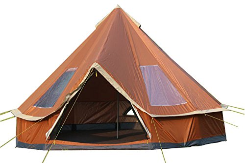 DANCHEL 6-12-Person Orange Bell Tent Size 13ft  sc 1 st  C&ing Companion & DANCHEL 6-12-Person Orange Bell Tent Size 13ft - Camping Companion