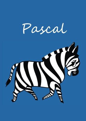 individualisiertes Malbuch / Notizbuch / Tagebuch - Pascal: Zebra - A4 - blanko