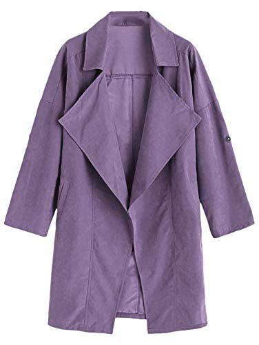 Caldo Cardigan Cappuccio Scothen Casual Donna Giacca Cappotto Corta Antivento Con Felpato Da Autunno Purple Leggera HwwfFOq