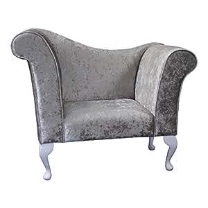 Funda Chaise Silla/sillón en una Tela de Terciopelo Arrugado ...