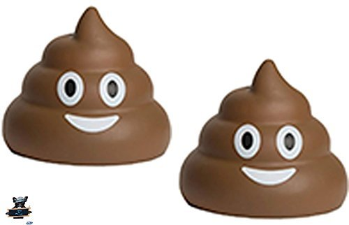 2 Poop Emojis Stress Balls - Nothing a little poo can't make better - One stress ball for each hand (Emojis Stress Balls)