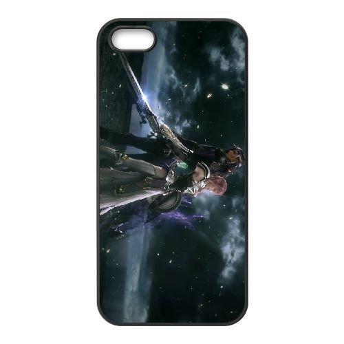 Eclair Farron Final Fantasy 001 coque iPhone 5 5S Housse téléphone Noir de couverture de cas coque EOKXLLNCD17950