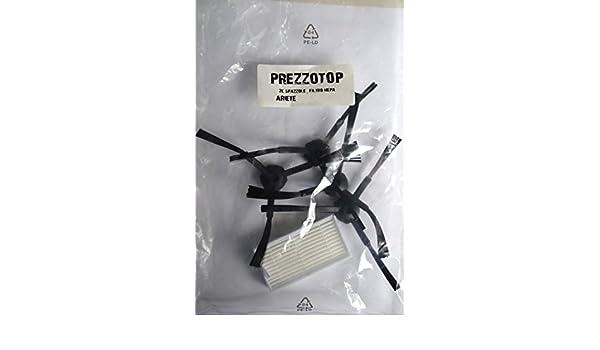 2 pares cepillos + Filtro HEPA Ariete Briciola 2711 2712 2717 Robot aspiradora: Amazon.es: Hogar