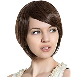 PINKISS High Quality Fashion Hair Replacement Extension Wig with Free Quality Wig Cap (SS623-2/33 / BROWN)