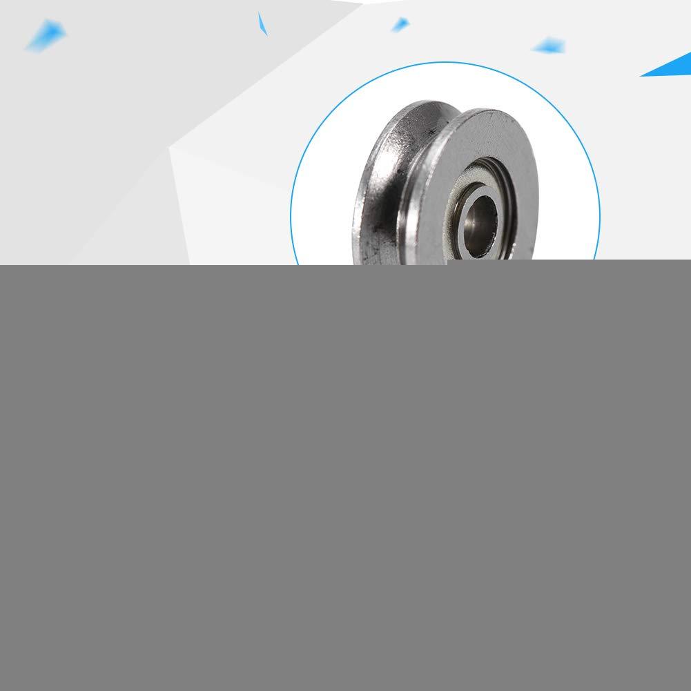 Rodamiento r/ígido en V 20pcs V623ZZ Polea de rodamiento r/ígido de bolas V 3x12x4mm para sistema de movimiento lineal de riel