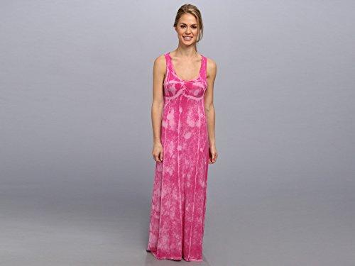 Pink Lotus Women's Seamed Maxi Dress w/ Twist Back Flamingo Crackle Dress XL