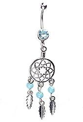Banggood 1 Pc Pretty Dream Catcher Rhinestone Fork Dangle Belly Navel Ring Body Piercing Ornament